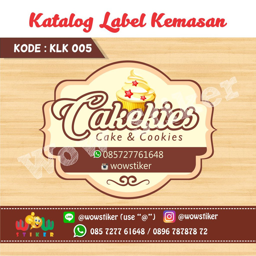 Stiker toples sticker cookies stiker label kemasan makana shopee indonesia