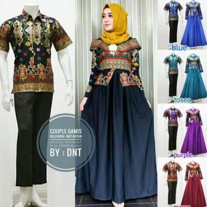 Dapatkan Harga batik Batik Couple Dress Fashion Muslim Gamis Hijab Diskon  4575f9a480