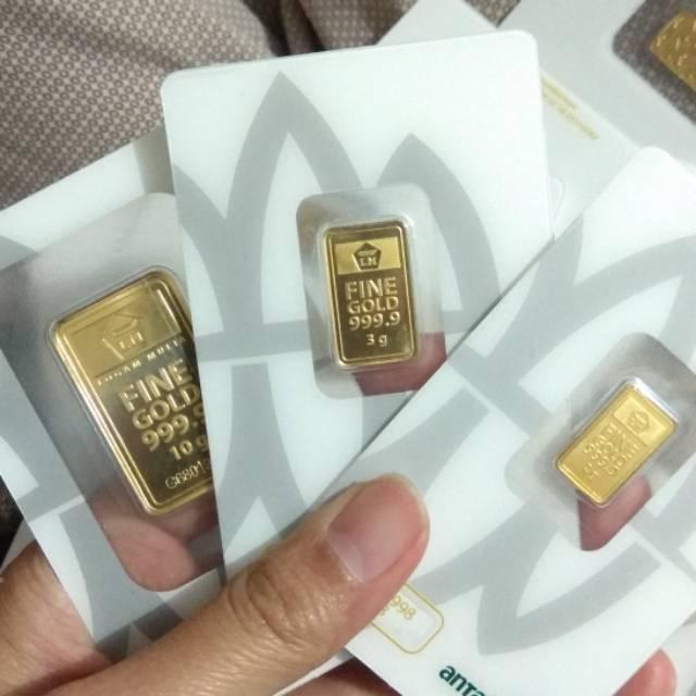 Emas Antam 5 Gram Logam Mulia Bersertifikat Shopee Indonesia