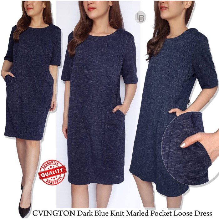 8a3e0e45 Zara dark grey marled knit short sleeve fit&flare midi dress | Shopee  Indonesia