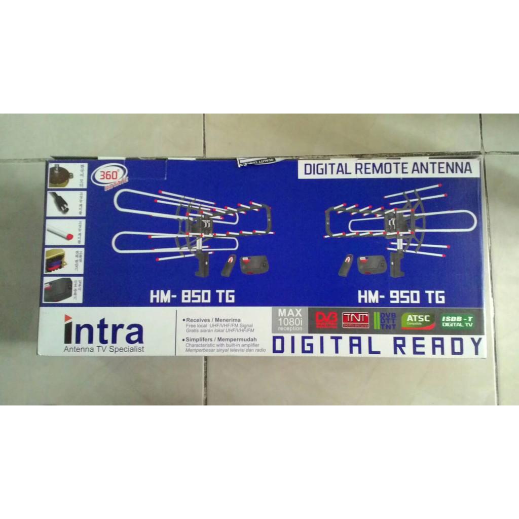 Antena Digital TV Intra Rotasi Remote Dengan Booster & Kabel HM-850/95 Antena