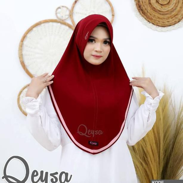 Qeysa Hijab Original /Qeysa Hijab kode 107 / Qeysa List hijab Original / Jilbab Qeysa (KODE 62)