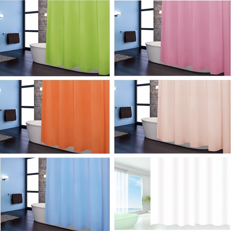Bathroom Products Waterproof Opaque Shower Curtain Shopee Indonesia
