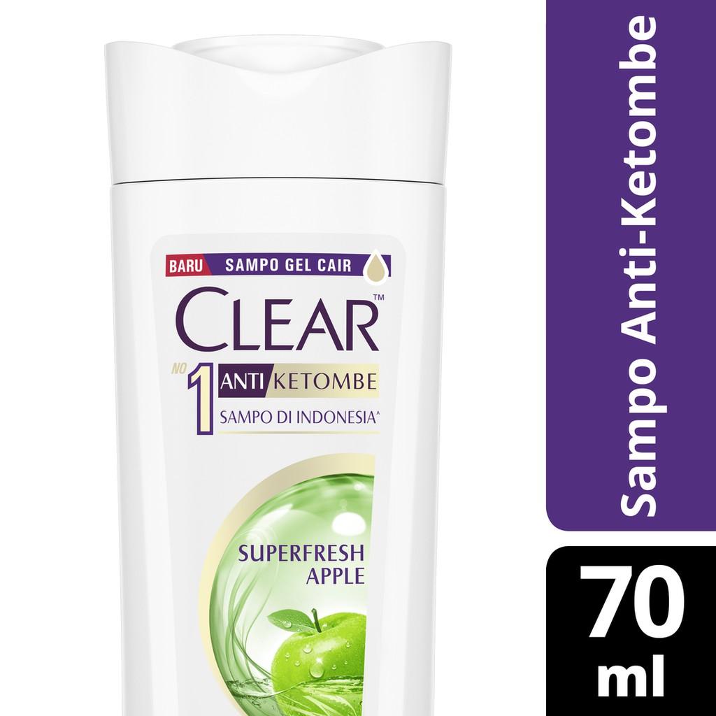 Clear Shampoo Anti Ketombe Super Fresh Apple 70 Ml
