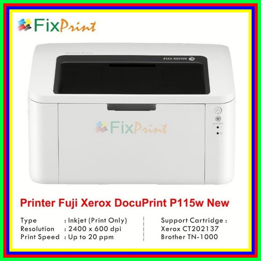 Printer Laserjet Fuji Xerox Docuprint P115w P115 W Wireless