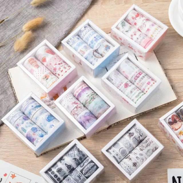 Washitape Selotip Motif Washi Tape Hiasan Jurnal Buku Catatan Aesthetic Shopee Indonesia
