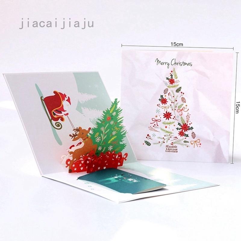 Kartu Ucapan Selamat Natal Tahun Baru Model Ukiran Hollow 3d Untuk Dekorasi Shopee Indonesia