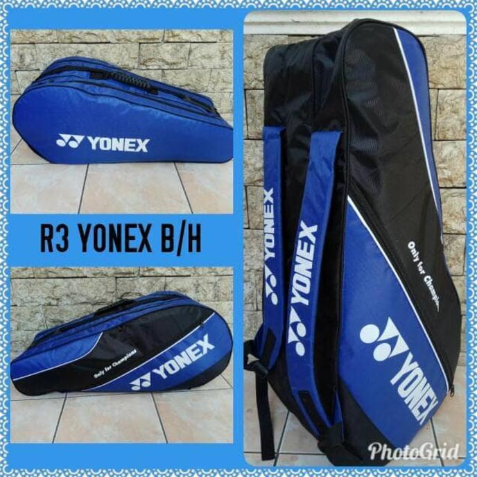 Cuci Gudang Tas Raket Badminton Bulutangkis Yonex R3 Murah New Release   Shopee Indonesia