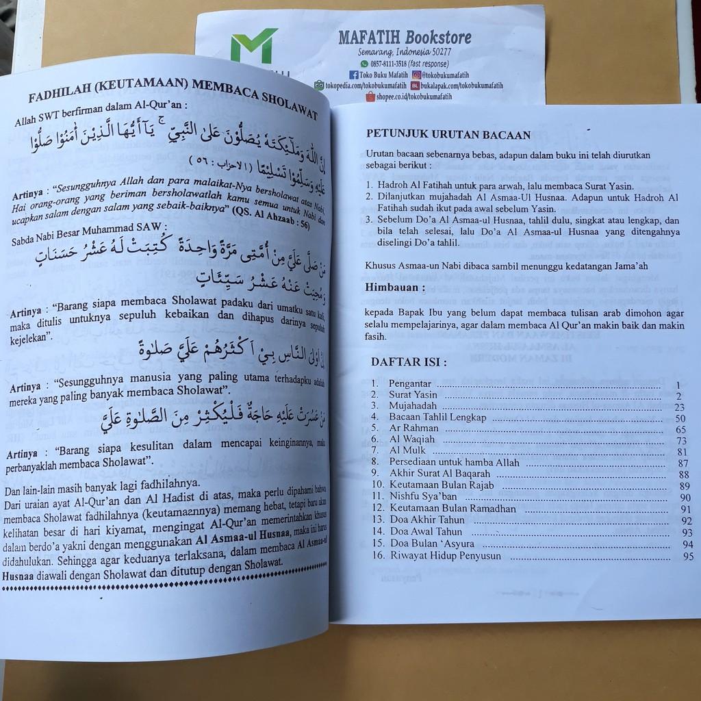 Buku Yasin Tahlil Mujahadah Ar Rahman Al Waqiah Al Mulk Asmaul Husna