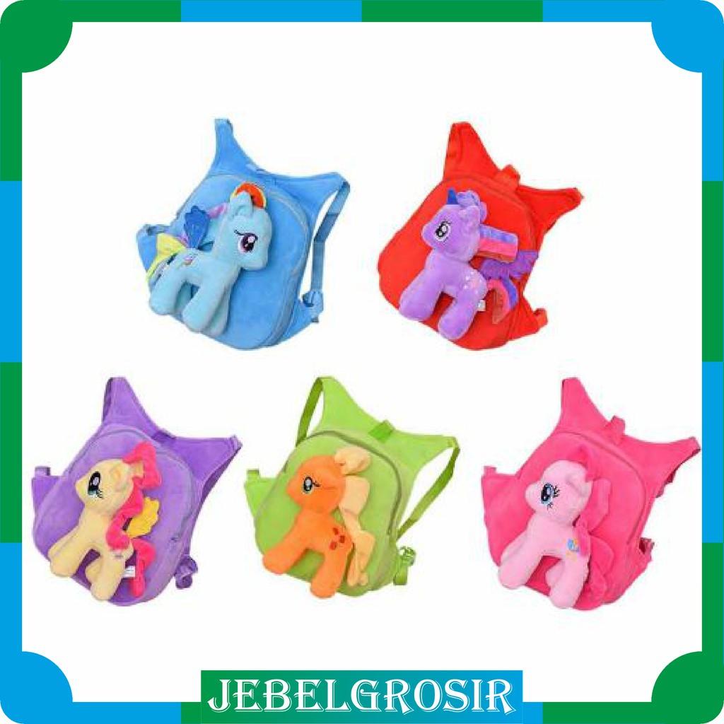 Jg208 1kg 6pcs My Little Pony Tas Ransel Anak Anak Bergambar Kuda Poni Kartun Shopee Indonesia