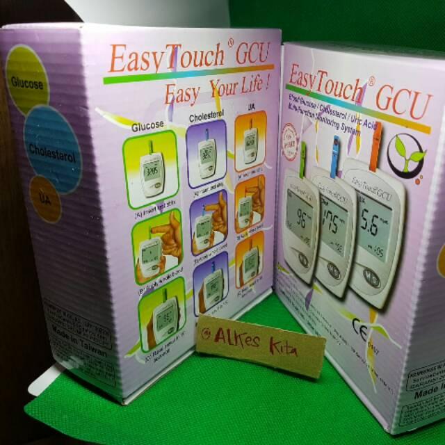 Easy touch GCU / Alat tes gula darah kolesterol dan asam urat
