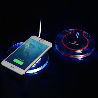 LSF-Crystal Qi Wireless Charger Transmitter Dock Disk for Samsung iPhone