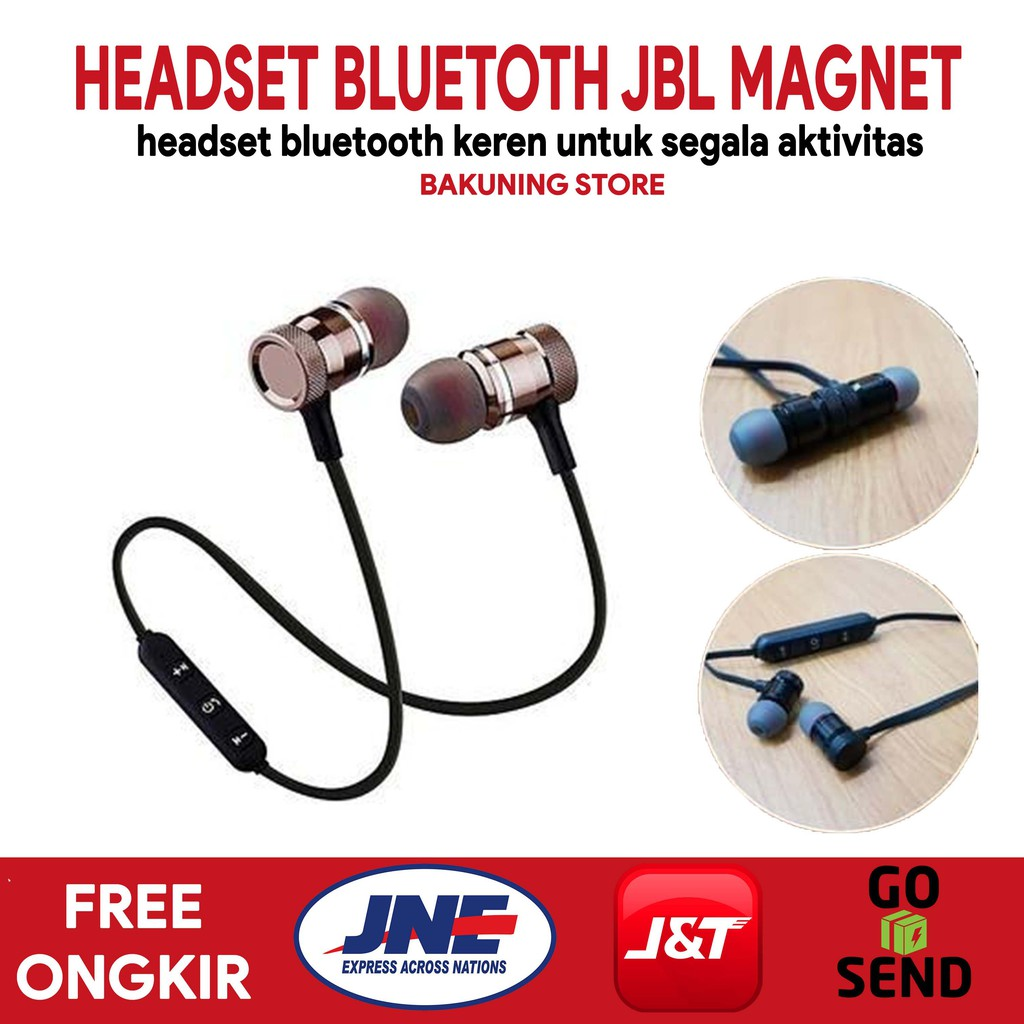 Bisa Cod Jbl Bs 01 Wireless Magnet Headset Bluetooth High Quality Sport Audio Shopee Indonesia