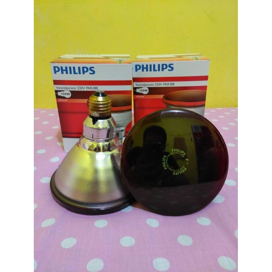 Bohlam Lampu Infrared Philips 150w Shopee Indonesia Kesehatan