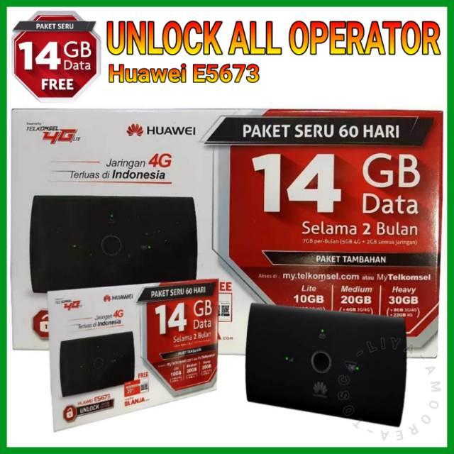 MiFi Router Modem WiFi 4G Huawei E5673 UNLOCK - FREE TELKOMSEL 14GB | Shopee Indonesia