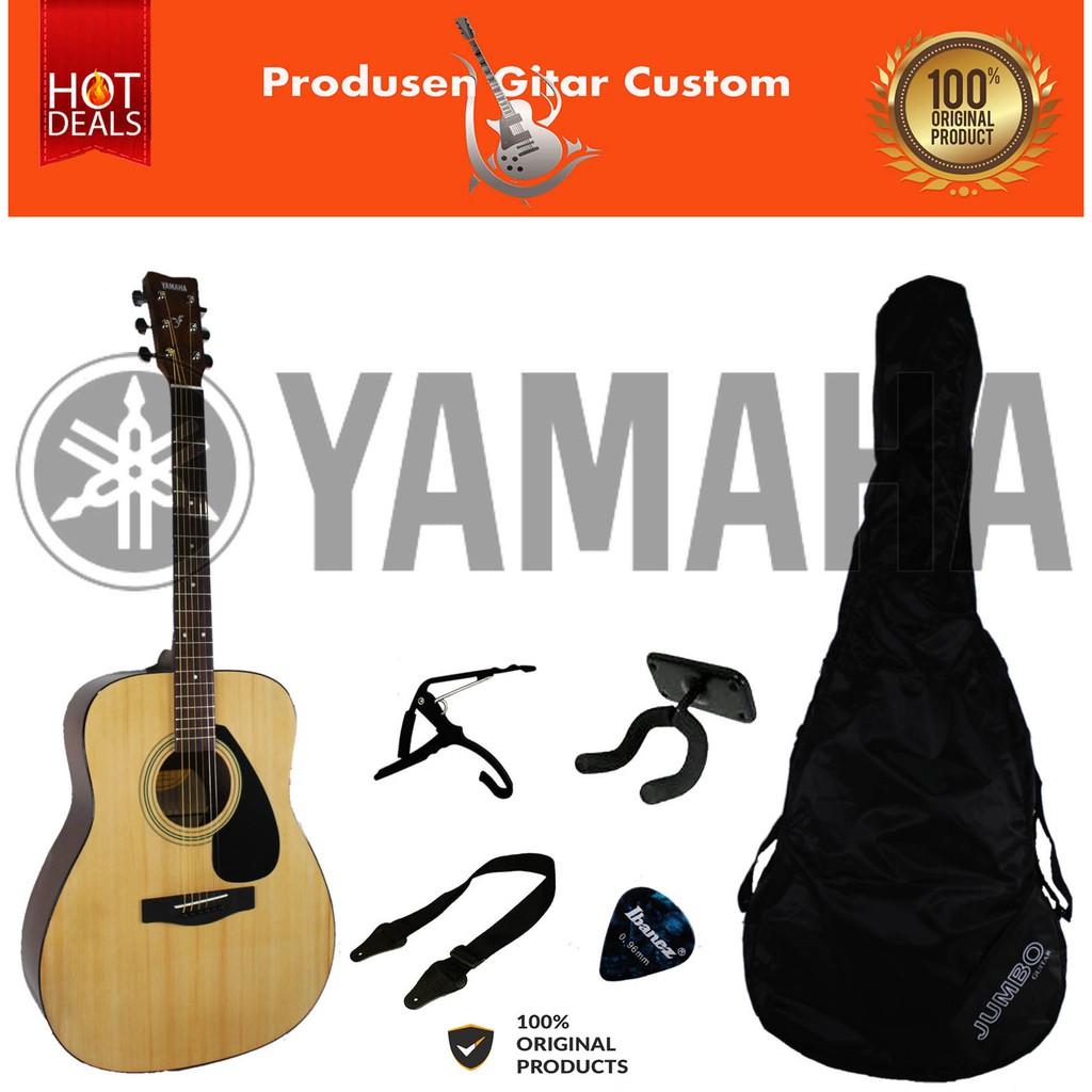 Original Paket Gitar Yamaha F310 Akustik Elektrik