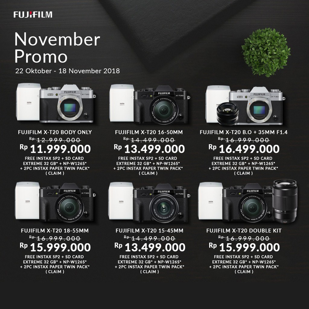 Fujifilm X E3 Kit Xf 23mm F2 Resmi Indonesia Shopee T2 Body Black Pwp F 14