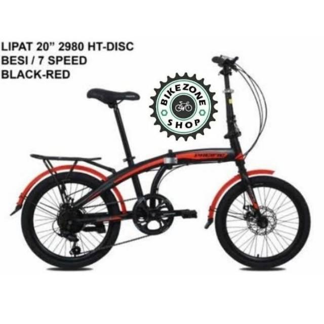 Sepeda Lipat 20 Inch Pacific 2980 Disc Disc Brake Cakram Shopee Indonesia