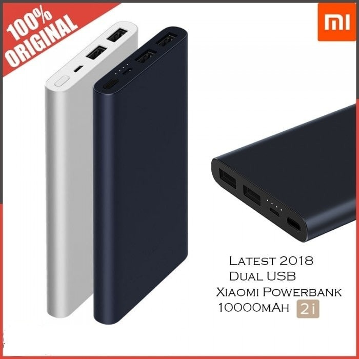 ORIGINAL XIAOMI PowerBank Mi2 10000mah Dual Output Fast Charge 2018