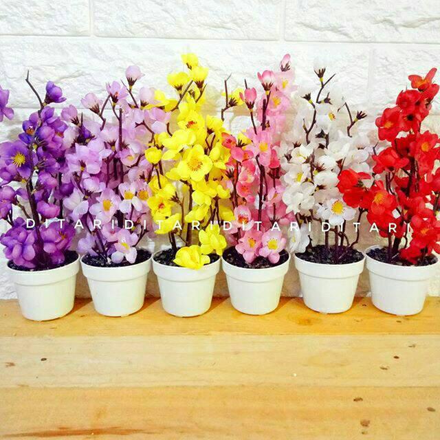 Bunga Anggrek Bulan  TANPA POT  Anggrek artificial bunga hias bunga plastik   57beb3af2c
