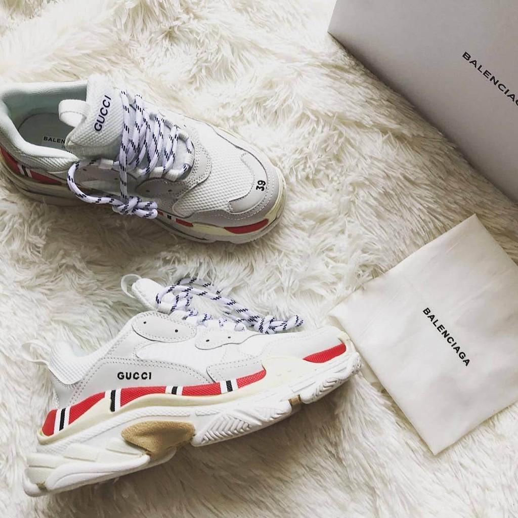Sepatu Wanita - Gucci x Balenciaga Top Speed Trainer Black - PRM ... 14efbeec51