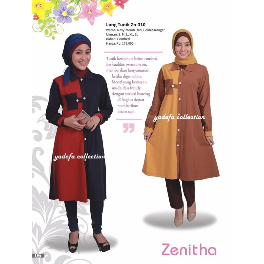 Long Tunik Katun Busui Shopee Indonesia Jfashion Plaid Camelia Merah