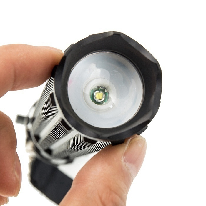 1x Baseball Bat Flashlight Torch Zoomable 3 Mode Q5 Cree LED Lamp Security Black
