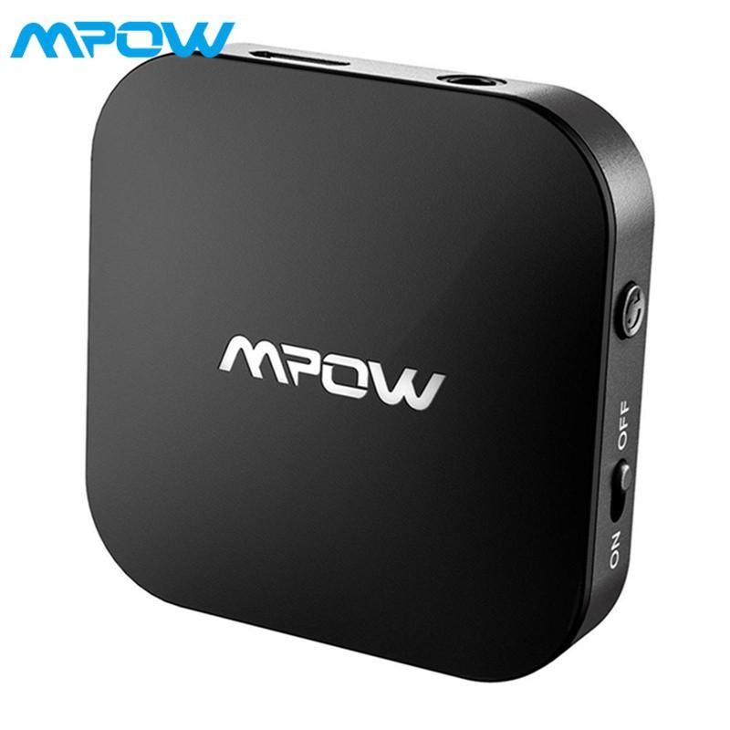 Mpow Wireless Bluetooth 5.0 Transmitter for TV w// APTX Aux 3.5mm Audio Adapter