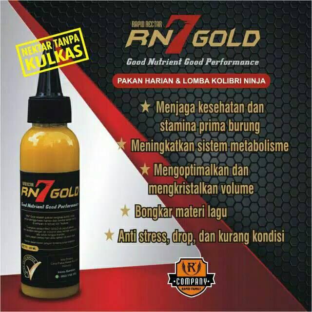 Rapid Nektar Rn7 Gold Pakan Burung Kolibri Ninja Shopee Indonesia