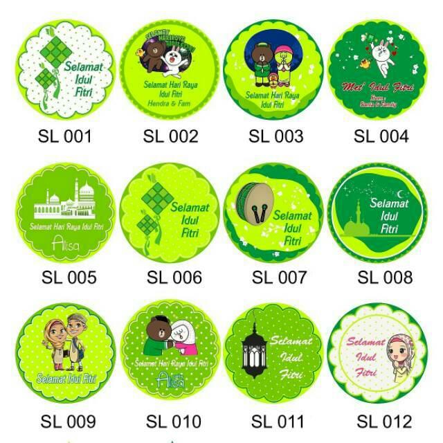 Stiker Lebaran Idul Fitri Eceran Per Set Shopee Indonesia