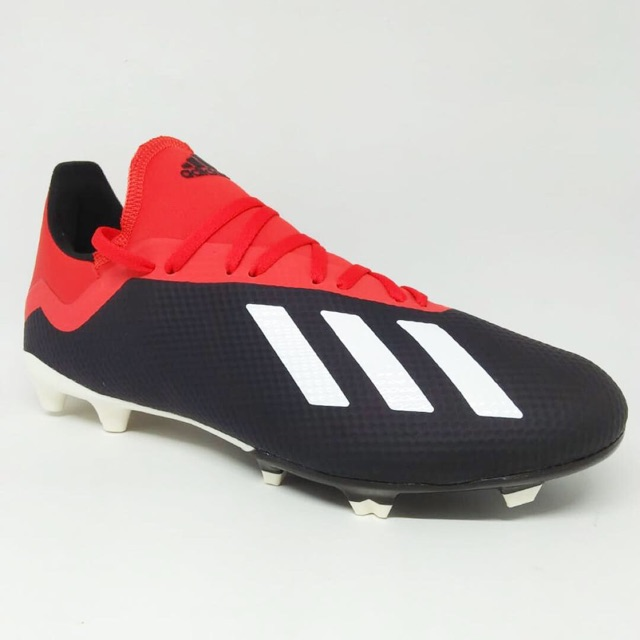 Kicosport Sepatu Bola Adidas X18 3 Fg Black Red White Original New
