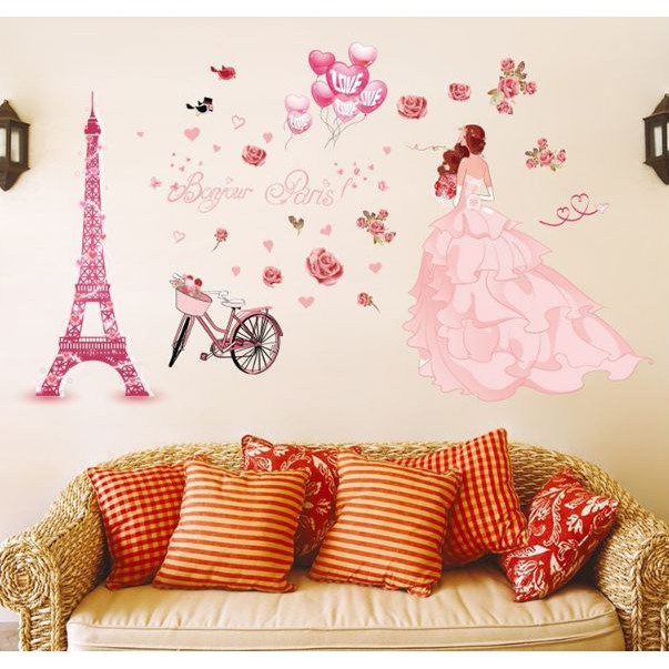 Pink Tree NOK002 (90x60) - Stiker Dinding / Wall Sticker | Shopee Indonesia
