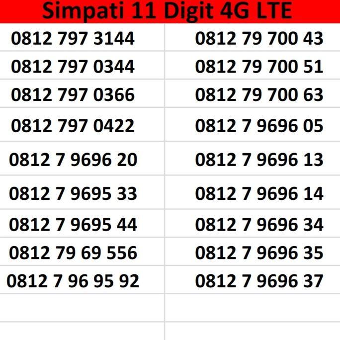 nomor cantik simpati digit - Temukan Harga dan Penawaran Kartu Perdana Online Terbaik - Handphone &