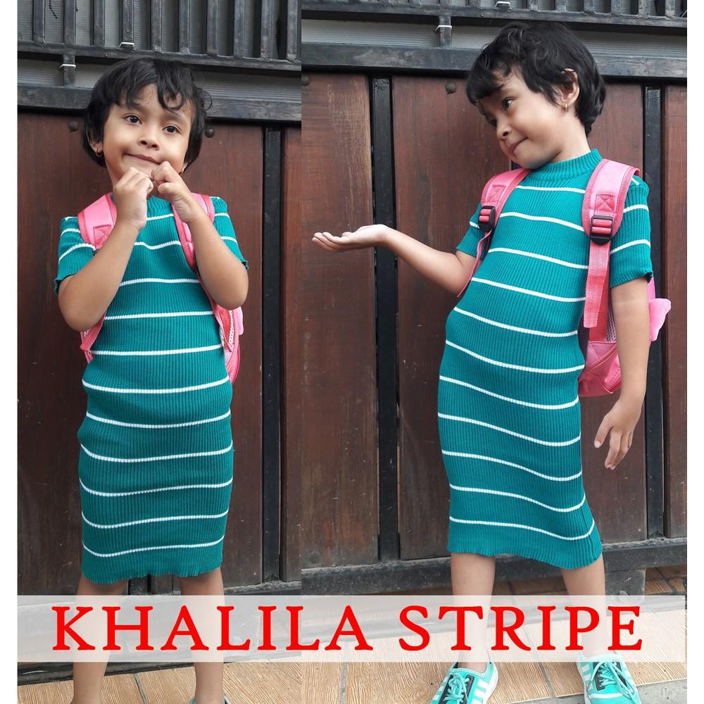 Khalila Stripe - Kalila Stripe - Anak dress - Anak pakaian - Anak Wanita  dress anak  b6565a0387