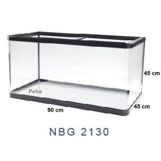 Yang Dicari] Aquarium Ikan - Akuarium Nisso Manta - Kaca Lengkung P 90 Cm Nbg 2130