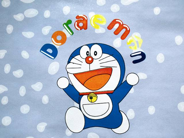 Grosir Wallpaper Dinding Pvc Wallsticker Dinding Kamar Anak Biru Doraemon Nobita Shopee Indonesia