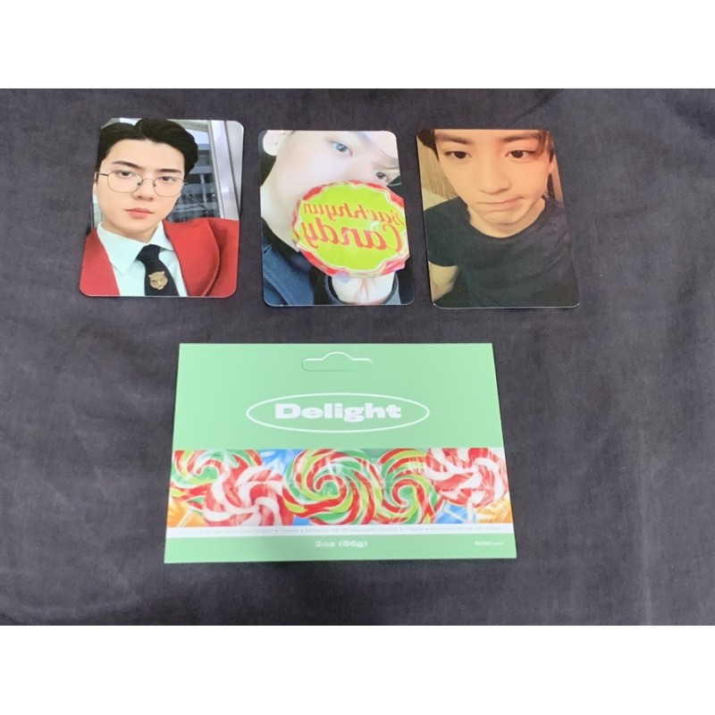 pc exo sehun baekhyun chanyeol message card photocard what a life exo sc exodus delight jasmer album