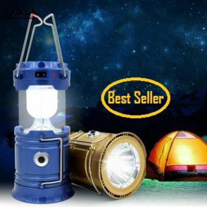 Lentera Tarik Solar Cell Senter Power Bank Lampu Emergency Camping Berkemah | Shopee Indonesia