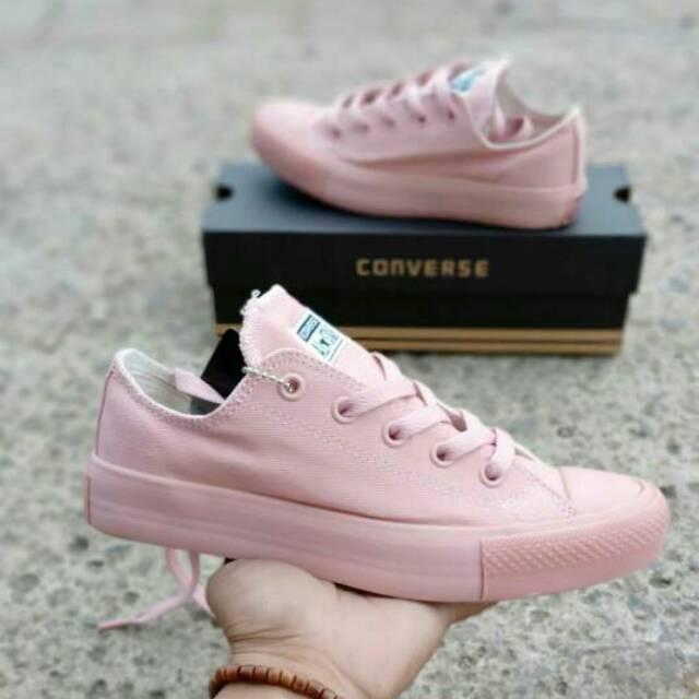 dc2acddffae6 Sepatu Converse allstar Chuck Taylor pink peach