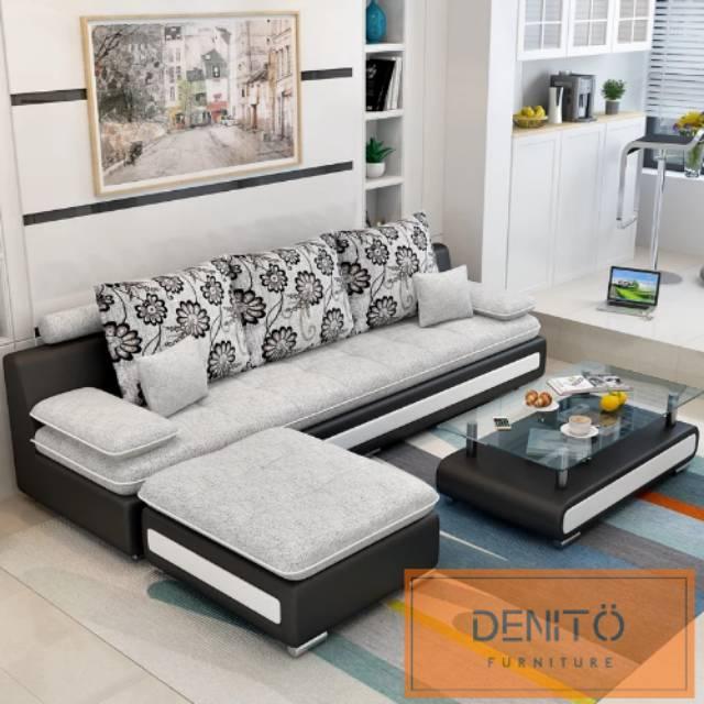Sofa Minimalis Leter L Shape Kualitas Premium Harga Pabrik Garansi 2 Tahun Gratis Ongkir Jabodetabek Shopee Indonesia