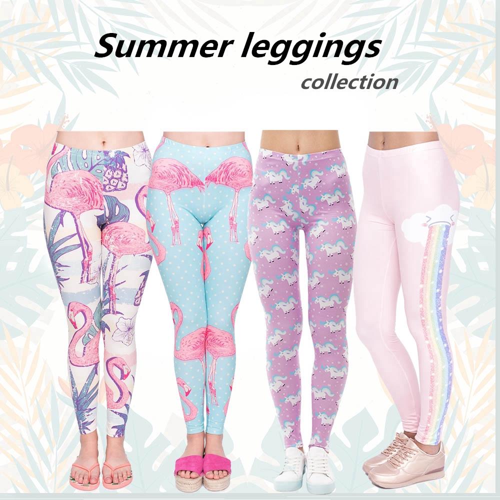 Celana Legging Motif Print 3d Flamingo Pelangi Untuk Yoga Gym Shopee Indonesia