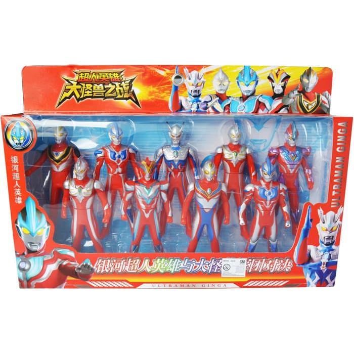 Figure Set Ultraman 9 Pcs Mainan Ultraman Ginga