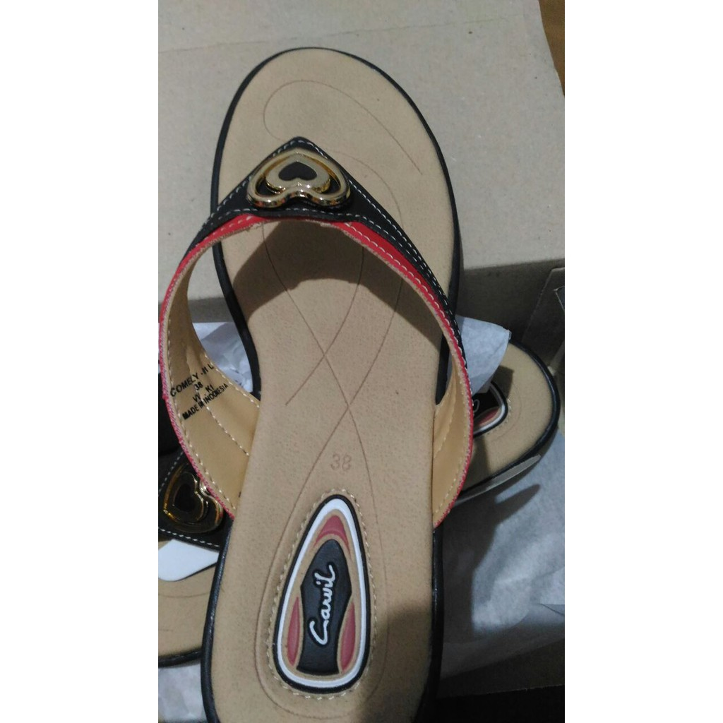 Jual Carvil Sandal Casual Ladies Cosher 03 L Black Hitam 37 Termurah Shally 39 Hasten 02 Red Shopee Indonesia