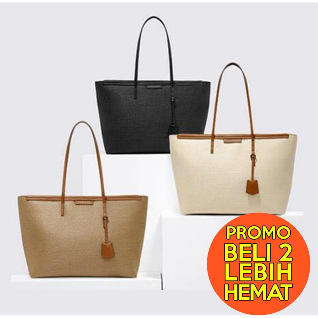 146c0813eca PROMO Tas Charles & keith original tote bag big shopping handbag   Shopee  Indonesia