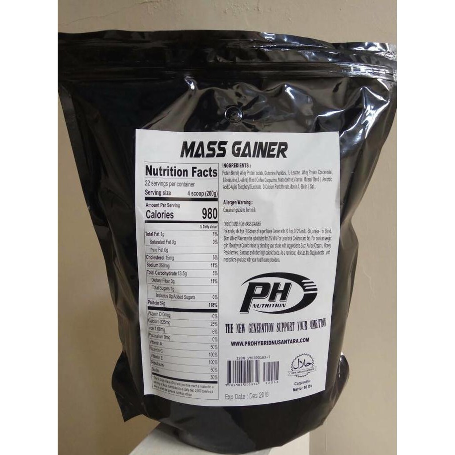 Gratis Ongkir Ph Pro Hybrid Mass Gainer 10 Lbs Serious Mutant Prohybrid 5lbs Original Shopee Indonesia