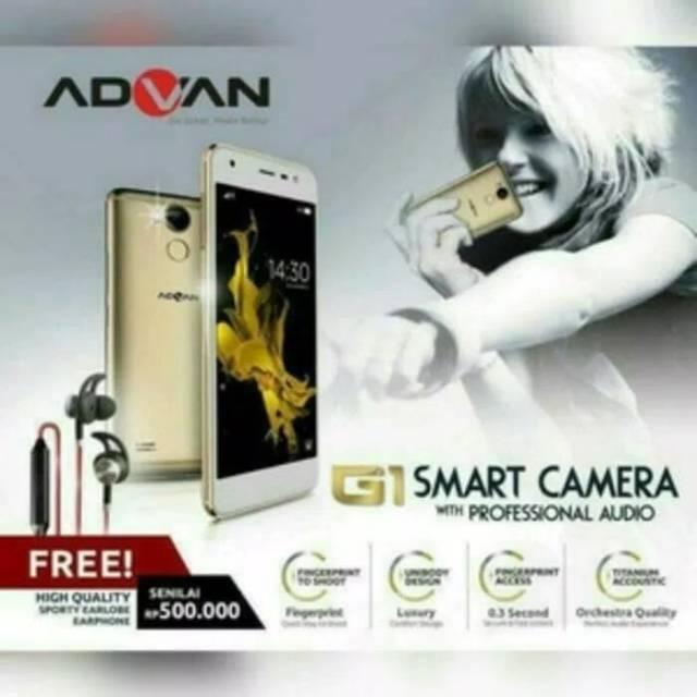"ADVAN G1 5"" 3/32 bonus sport earphone - Garansi Resmi 1tahun"