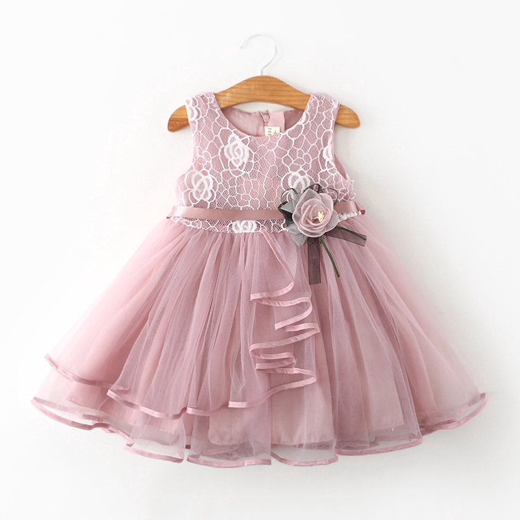 Kids Toddler Baby Girls Princess Flower Tulle Tutu Dresses Summer Wedding Party+