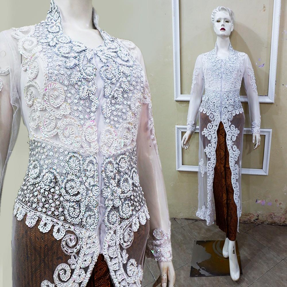 Baju Akad Nikah Kebaya Pengantin Putih
