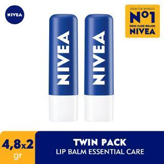 NIVEA Lip Balm Original Essential Care 4.8 gr Twinpack thumbnail