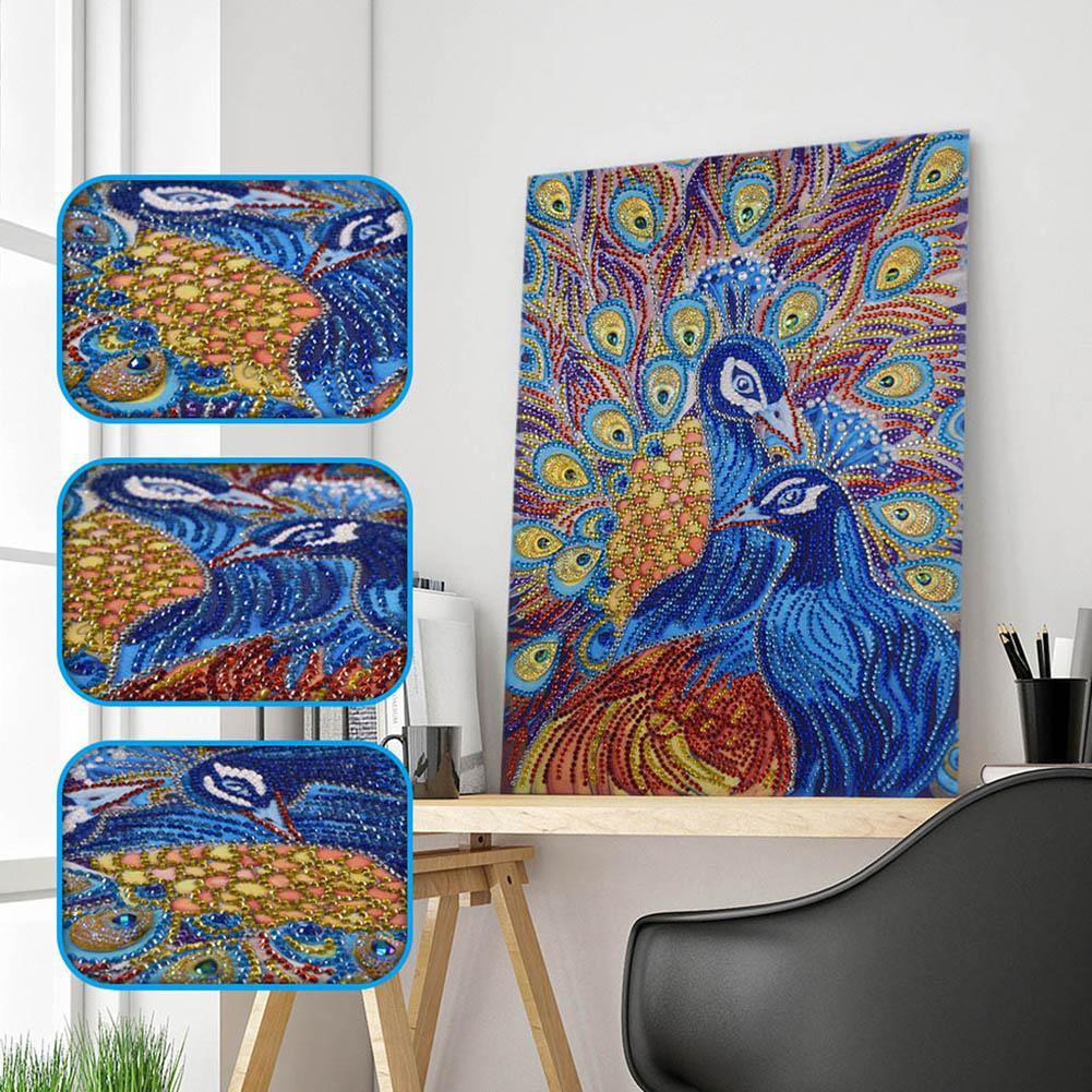 Diy Lukisan Diamond 5d Dengan Gambar Binatang Burung Merak Untuk